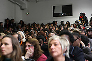 January 17, 2013- Paris, France- Conference Attendees at the Black Portraiture(s): The Black Body in the West Conference Day 1 held at Ecole national superieure des beaux-arts on January 17, 2013 in Paris, France. The Black Body in the West, the fifth in a series of conferences organized by Harvard University and NYU since 2004 explores ideas of the production of self-representation, desire and the exchange gaze from the 19th century to the present day in fashion, film, art and the archives. (Terrence Jennings)