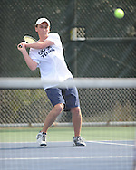 Oxford High's Zach Wilder vs. Saltillo in tennis at Avent Park on Mondday, March 29, 2010 in Oxford, Miss.