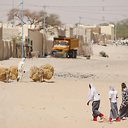A group of teenage girls walk home from school in Mao, Kanem region, Chad on Monday February 13, 2012.