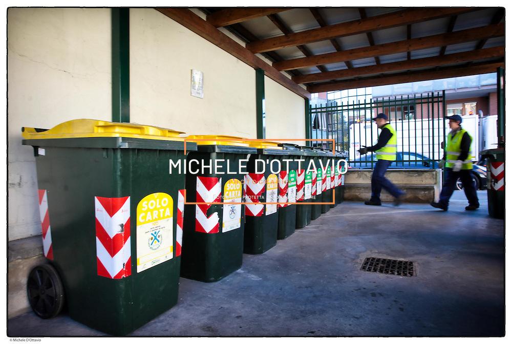 Raccolta differenziata dei rifiuti urbani.