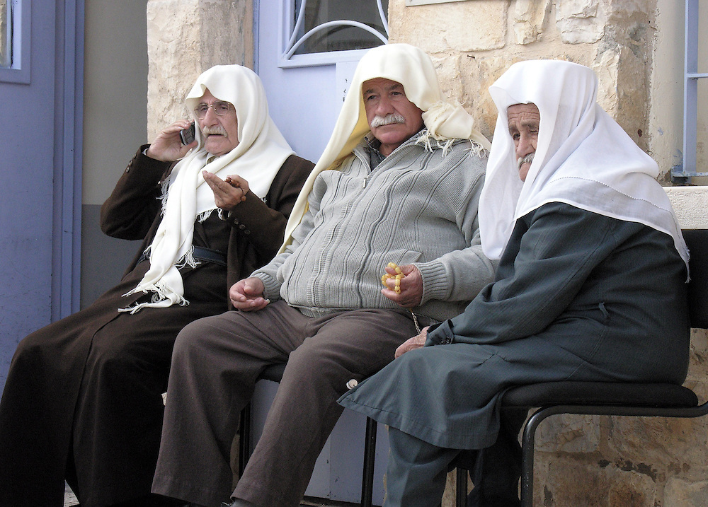 I looked at these three elders  and my first impression in one word was dignity.<br /> I asked their permission to take their picture. The image was recorded in the Druze village of Peki&rsquo;in, one of the oldest villages in Israel.  As tradition continues there, the village elders are highly respected people.