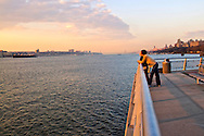 Pier Riverside South, Sunset Hudson RIver, New York City, New York, Looking towards New Jersey