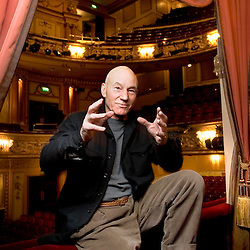 UK. London. Actor Patrick Stewart at The Gielgud Theatre, Shaftesbury Avenue in London's West End..Photo shows Patrick Stewart in The Royal Box..Photo©Steve Forrest