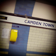 Camden Town Underground Station Sign, North London, Britain - Oct 2009