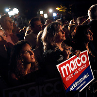 CORAL GABLES, FL -- November 2, 2010 -- Supporters listen to Republican Senate candidate Marco Rubio as he celebrates his victory at The Biltmore Hotel in the Coral Gables area of Miami, Fla., on the Mid-Term Election Day on Tuesday, November 2, 2010.  Rubio won the three-way race for the seat over Independent Gov. Charlie Crist and Democrat Kendrick Meek.