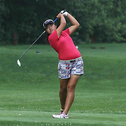 Esther Park of Wilmington, DE, tees off on the 11th hole during the girls 2015 Delaware junior championship at Chesapeake Bay Golf Club Thursday, July 03, 2015, in Rising Sun, Maryland.