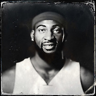 Sep 29, 2014; Auburn Hills, MI, USA;  (Editor's Note: Photo was post-processed creating a digital tintype) Detroit Pistons center Andre Drummond (0) during media day at the Pistons practice facility. Mandatory Credit: Rick Osentoski-USA TODAY Sports