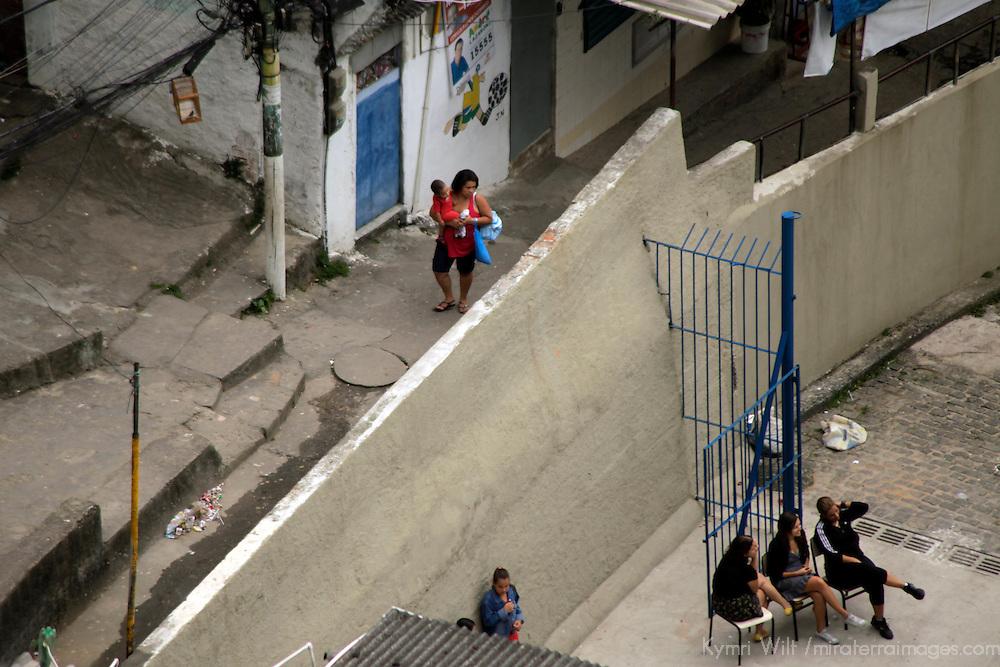 South America, Brazil. Rio de Janiero. Daily life in favela of Rocinho.