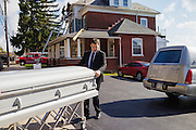 Wilde Funeral Home in Parkesburg, Pennsylvania on October 30, 2014. The Wilde Funeral Home was started in 1850 and has stayed in the family and in business for the lsat six generations.
