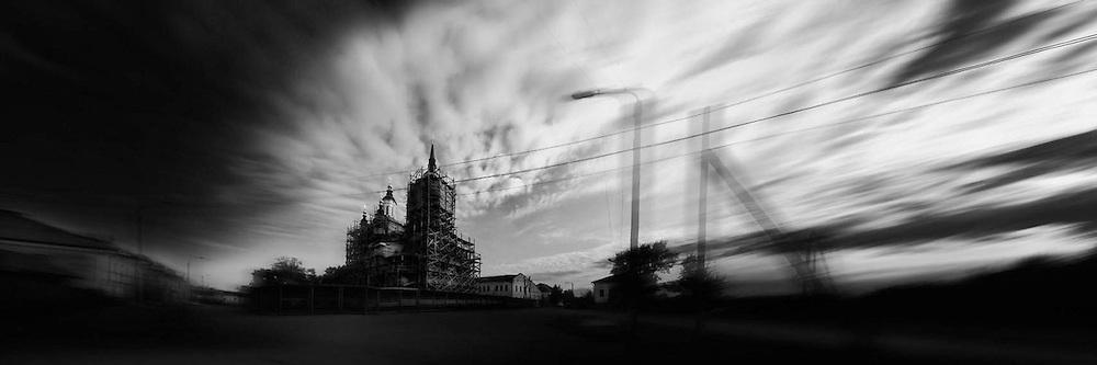Panoramic view of Tobolsk, Siberia, Russia