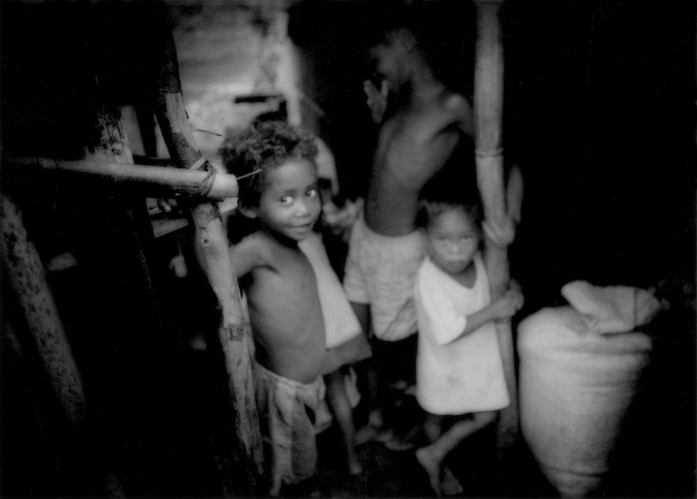 Agta Negrito children in the village of Sawa, deep in the rainforest in the Sierra Madre Mountains of Luzon, Philippines.