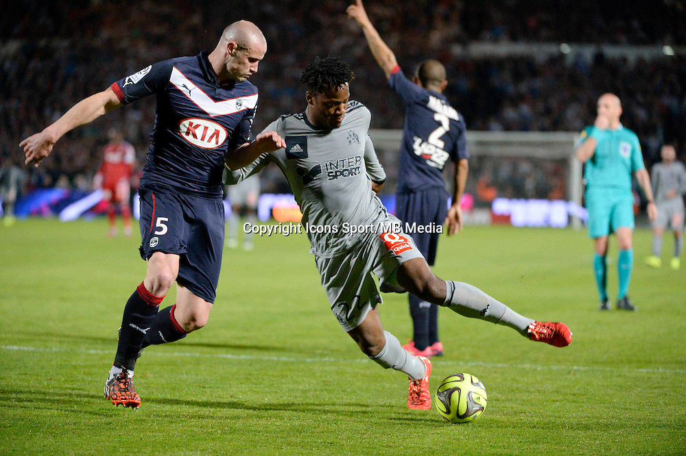 Nicolas PALLOIS / Michy BATSHUAYI - 12.04.2015 - Bordeaux / Marseille - 32eme journee de Ligue 1 <br />