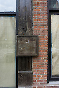 abstraction of a deserted building in New York City