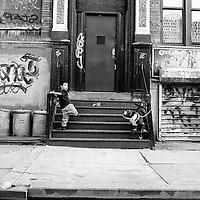 Street scene, Henry Street, Lower East Side, Manhattan 1993