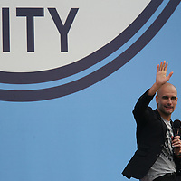 Pep Guardiola is presented to Manchester City fans at the Manchester City Academy, Manchester on July 3rd 2016