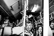 September 2015. Thessaloniki. People in the bus.