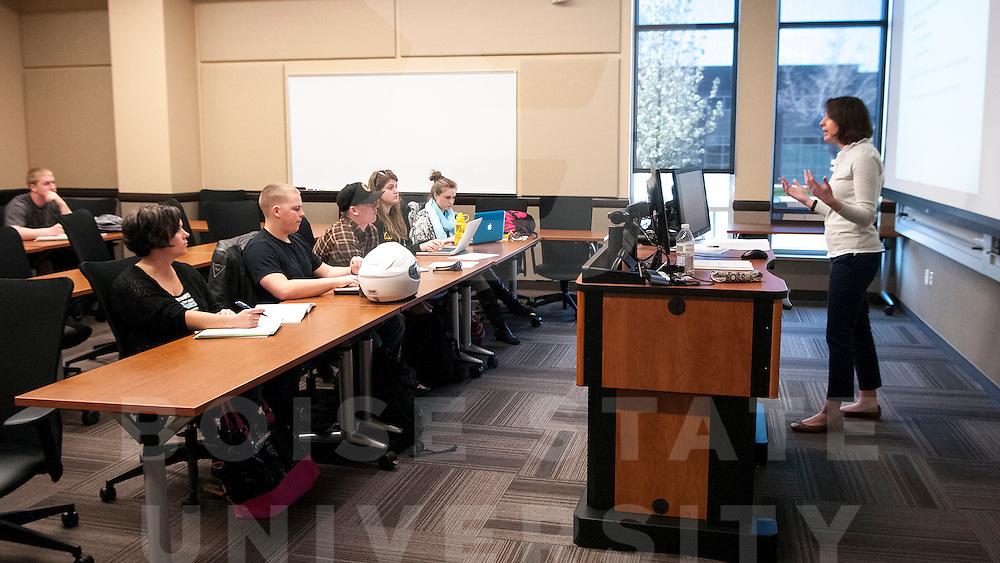 Criminal Justice Classroom, Dr. Lane Gillespie, Patrick Sweeney Photo