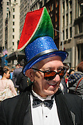 A participant in the Easter Bonnet Parade in New York City, Easter, 2012.