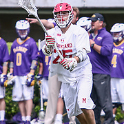 University of Maryland Attackman DYLAN MALTZ (25) in action during the second half of a 2017 NCAA Division I Men's Lacrosse Quarterfinals game between #1 Maryland and #8 Albany Sunday, May. 21, 2017 at Delaware Stadium in Newark, Delaware.