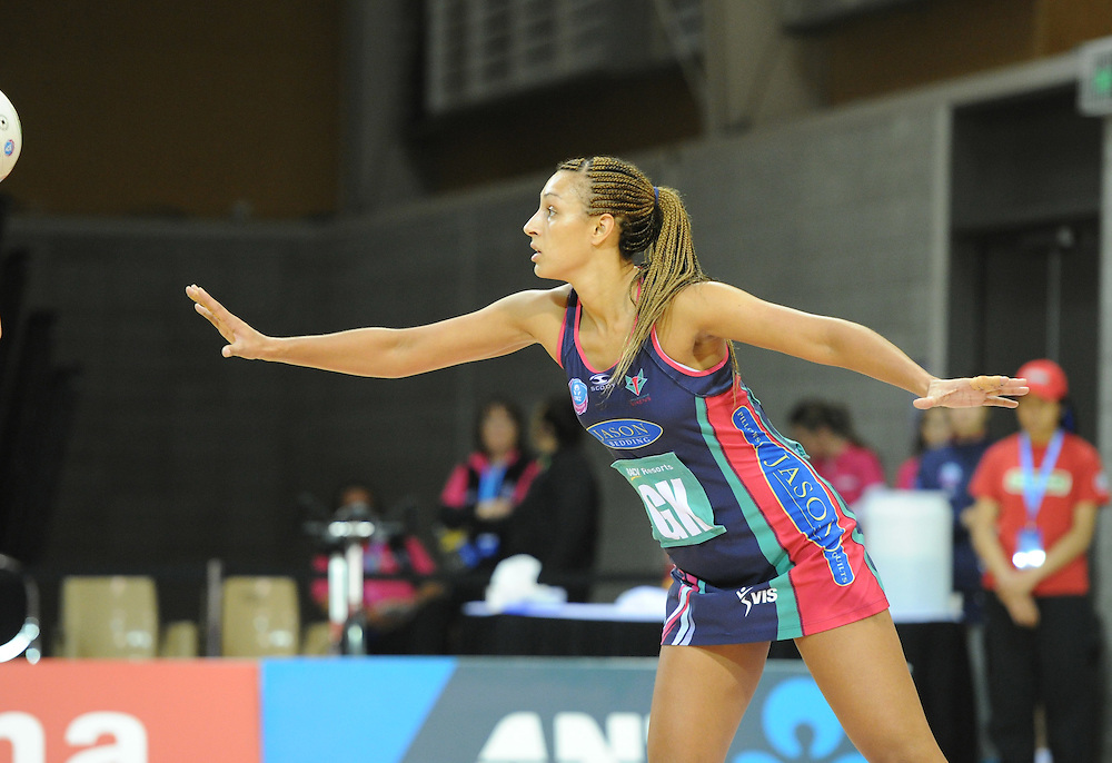 Vixen's Geva Mentor against the Pulse in the ANZ Championship netball match at Te Rauparaha Arena, Porirua, New Zealand, Monday, June 25, 2012. Credit:SNPA / Ross Setford