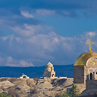 The Greek Orthodox church of St. John the baptist near the Jordan river in Qasr al yahud , Israel