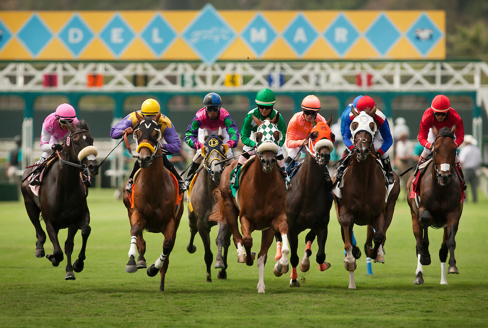 Turf racing action from opening day of the 2011 Del Mar Summer Meeting, Del Mar CA. July 20, 2011 Credit Alex Evers/EquiSport Photos