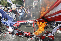APR 29 2014 Protest rally near the U.S. Embassy in Manila