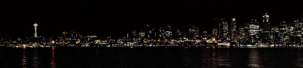 Seattle by night,panorama,photography.