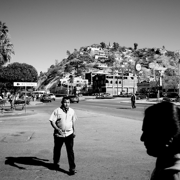 A street scene in Nogales, Sonora, Mexico, on Thursday, Jan. 31, 2008.