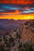 Celebrating sunrise at the Grand Canyon.