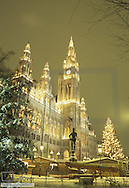 City hall Vienna, Christmas decoration, Austria, Vienna, 1. district, city hall
