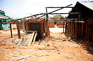 Homes of Christians that were destroyed during secular violence in August 2008 remain empty April 10, 2009 in the town of Mondesore in the state of Orissa, India. Tensions remain high in the area several months after violence by Hindu fundamentalist towards the Christian minority  forced thousands from their homes and leaving several churches and homes destroyed.
