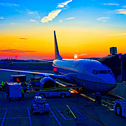Ronald Reagan Airport, Washington DC, Sunrise, Aircraft